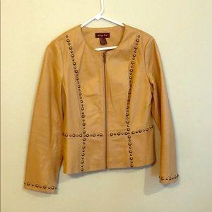 100% Leather studded jacket